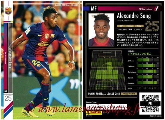 Panini Football League 2013 - PFL02 - N° 037 - Alexandre Song ( FC Barcelona )