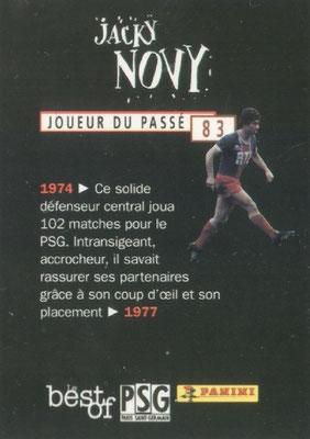 N° 083 - Jacky NOVI (Verso)
