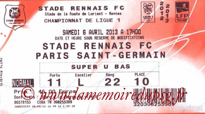 Tickets  Rennes-PSG  2012-13