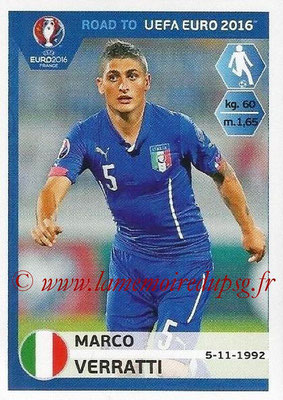 Panini Road to Euro 2016 Stickers - N° 169 - Marco VERRATTI (Italie)