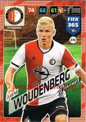 2017-18 - Panini FIFA 365 Cards - N° 274 - Lucas WOUDENBERG (Feyenoord) (Rising Star)