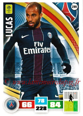 2016-17 - Panini Adrenalyn XL Ligue 1 - N° 299 - LUCAS (Paris Saint-Germain)