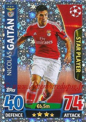 2015-16 - Topps UEFA Champions League Match Attax - N° 190 - Nicolas GAITAN (SL Benfica) (Star Player)