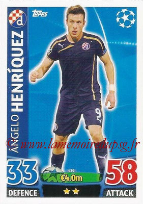 2015-16 - Topps UEFA Champions League Match Attax - N° 429 - Angelo HENRIQUEZ (GNK Dinamo Zagreb)