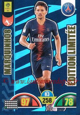 2018-19 - Panini Adrenalyn XL Ligue 1 - N° LE-MA - MARQUINHOS (Paris Saint-Germain) (Edition Limitée)