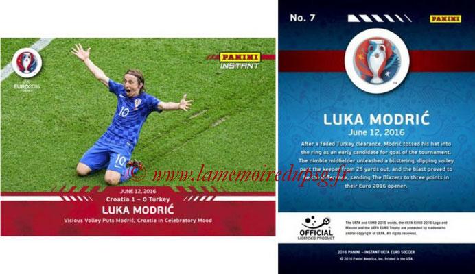 Panini Instant Euro 2016 - N° 007 - Luka MODRIC