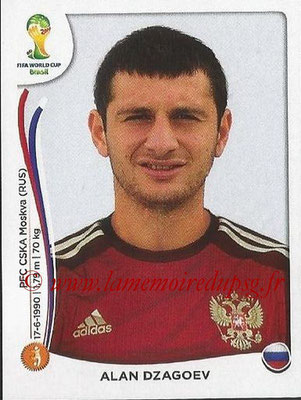 2014 - Panini FIFA World Cup Brazil Stickers - N° 617 - Alan DZAGOEV (Russie)
