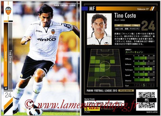 Panini Football League 2013 - PFL02 - N° 055 - Tino Costa ( Valencia CF )