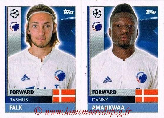 2016-17 - Topps UEFA Champions League Stickers - N° QFD 13-14 - Danny AMANKWAA + Rasmus FALK (FC Copenhague)