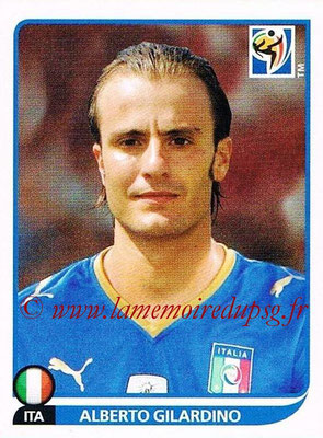 2010 - Panini FIFA World Cup South Africa Stickers - N° 427 - Alberto GILARDINO (Italie)