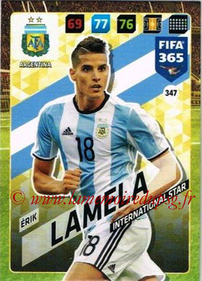 2017-18 - Panini FIFA 365 Cards - N° 347 - Erik LAMELA (Argentine) (International Star)