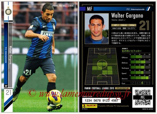 Panini Football League 2013 - PFL04 - N° 022 - Walter GARGANO (Inter Milan)