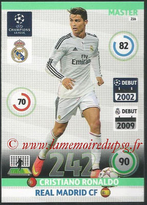 2014-15 - Adrenalyn XL champions League N° 216 - Cristiano RONALDO (Real Madrid CF) (Master)