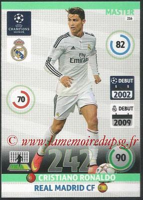 2014-15 - Adrenalyn XL champions League N° 216 - Cristiano RONALDO (Real Madrid CF) (Master)