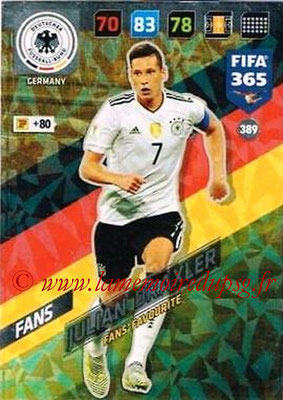 2017-18 - Panini FIFA 365 Cards - N° 389 - Julian DRAXLER (Allemagne) (Fans' Favourite)