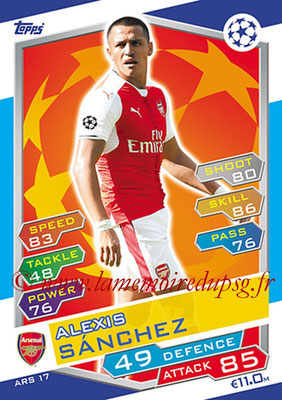 2016-17 - Topps UEFA Champions League Match Attax - N° ARS17 - Alexis SANCHEZ (Arsenal FC)