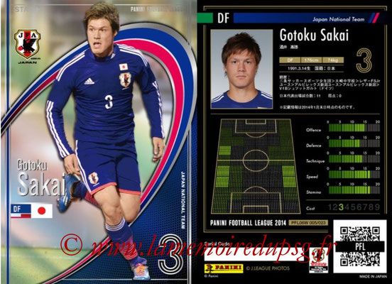 Panini Football League 2014 - PFL06W - N° 005 - Gotoku SAKAI (Japon) (Star +)