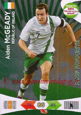 2014 - Panini Road to FIFA World Cup Brazil Adrenalyn XL - N° 199 - Aiden McGEADY (République d'Irlande) (Fan's Favourite)