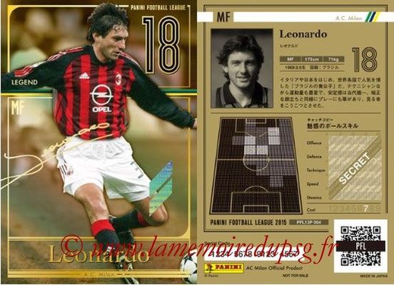Panini Football League 2015 - PFL13P - N° 004 - LEONARDO (Milan AC) (Legend)
