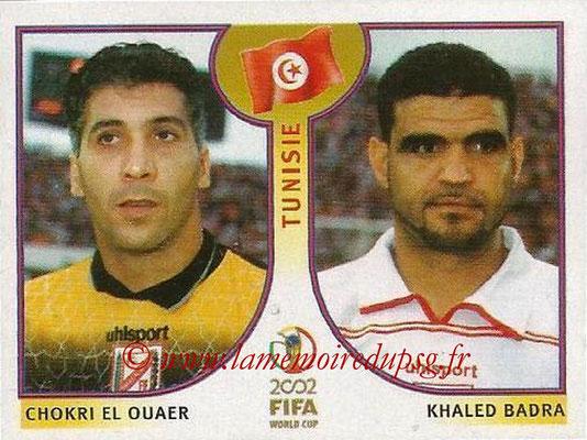 2002 - Panini FIFA World Cup Stickers - N° 568 - Chokri EL OUAER + Khaled BADRA (Tunisie)