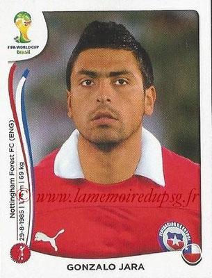 2014 - Panini FIFA World Cup Brazil Stickers - N° 151 - Gonzalo JARA (Chili)