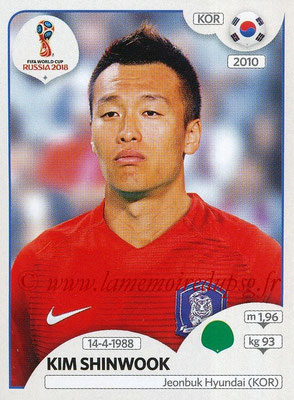 2018 - Panini FIFA World Cup Russia Stickers - N° 510 - Kim SHINWOOK (Corée du Sud)