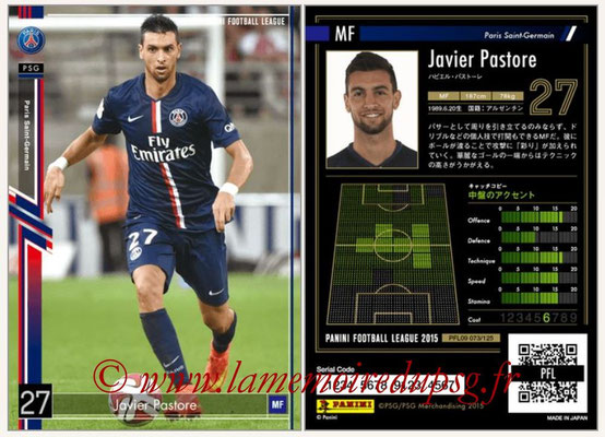Panini Football League 2015 - PFL09 - N° 073 - Javier PASTORE (Paris Saint-Germain)