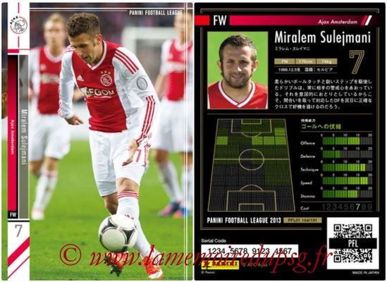 Panini Football League 2013 - PFL01 - N° 164 - Miralem Sulejmani ( Ajax Amsterdam )