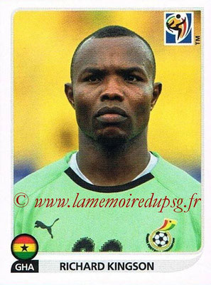 2010 - Panini FIFA World Cup South Africa Stickers - N° 317 - Richard KINGSON (Ghana)