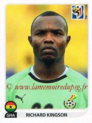 2010 - Panini FIFA World Cup South Africa Stickers - N° 317 - Richard KINGSON (Ghana)
