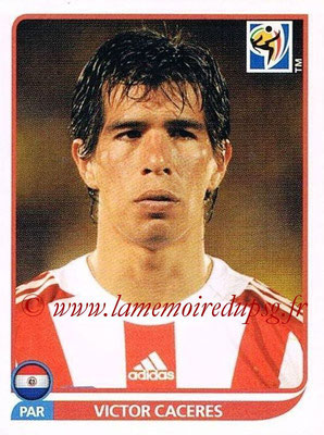 2010 - Panini FIFA World Cup South Africa Stickers - N° 442 - Victor CACERES (Paraguay)