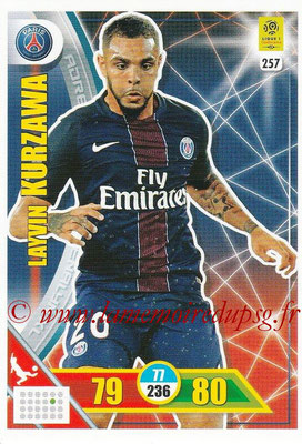 2017-18 - Panini Adrenalyn XL Ligue 1 - N° 257 - Laywin KURZAWA (Paris Saint-Germain)