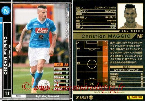 2015-16 - Panini WCCF - N° 218 - Christian MAGGIO (SSC Napoli)