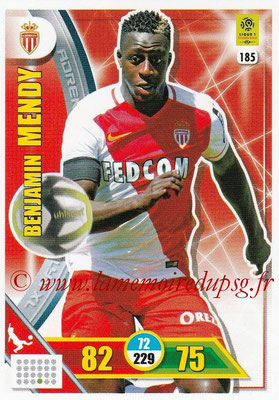 2017-18 - Panini Adrenalyn XL Ligue 1 - N° 185 - Benjamin MENDY (Monaco)
