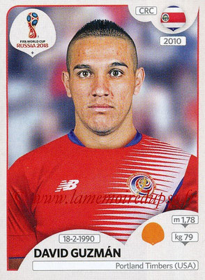 2018 - Panini FIFA World Cup Russia Stickers - N° 407 - David GUZMAN (Costa Rica)