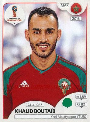 2018 - Panini FIFA World Cup Russia Stickers - N° 168 - Khalid BOUTAIB (Maroc)