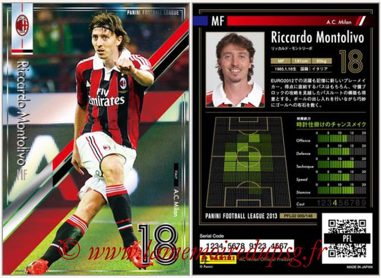 Panini Football League 2013 - PFL02 - N° 005 - Riccardo Montolivo ( A.C. Milan )