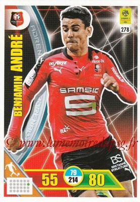2017-18 - Panini Adrenalyn XL Ligue 1 - N° 278 - Benjamin ANDRE (Rennes)