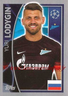 2015-16 - Topps UEFA Champions League Stickers - N° 522 - Yuri LODYGIN (FC Zenit)
