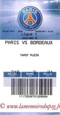 Tickets  PSG-Bordeaux  2017-18