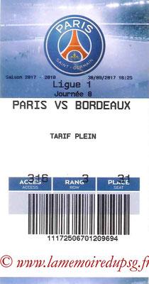 Tickets  PSG-Bordeaux  2017-18