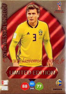 2018 - Panini FIFA World Cup Russia Adrenalyn XL - N° LE-VN - Victor NILSSON LINDELÖF (Suede) (Limited Edition)