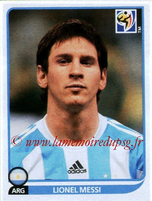 2010 - Panini FIFA World Cup South Africa Stickers - N° 122 - Lionel MESSI (Argentine)