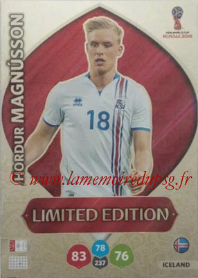2018 - Panini FIFA World Cup Russia Adrenalyn XL - N° LE-HM - Hordur MAGNUSSON (Islande) (Limited Edition)