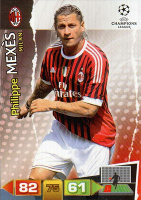 2011-12 - Panini Champions League Cards - N° 161 - Philippe MEXES (Milan AC)