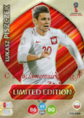 2018 - Panini FIFA World Cup Russia Adrenalyn XL - N° LE-LP - Lukasz PISZCZEK (Pologne) (Limited Edition)