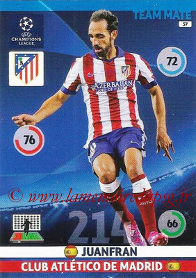 2014-15 - Adrenalyn XL champions League N° 057 - JUANFRAN (Atletico Madrid)