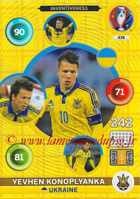 Panini Euro 2016 Cards - N° 438 - Yevhen KONOPLYANKA (Ukraine) (Inventiveness)