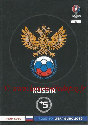 Panini Road to Euro 2016 Cards - N° 020 - Ecusson Russie