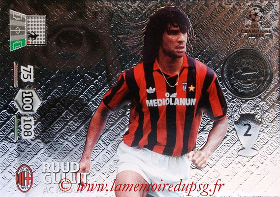 2012-13 - Adrenalyn XL champions League N° 354 - Ruud GULLIT (Milan AC) (Legend)